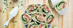 These avocado and white bean salad wraps come together really quickly and the meal is on the coffee table in less than half an hour.