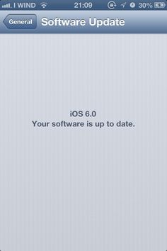 iOS 6 is up to date!
