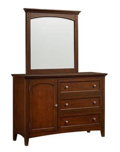 Cooperstown Transitional Cherry Wood Youth Dresser