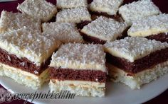 Érdekel a receptje? Kattints a képre! Cake Bars, Pie Cake, Hungarian Recipes, Christmas Sweets, Coco, Nutella, Cookie Recipes, Food And Drink, Snacks