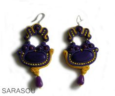 #Sarasou #soutache #soutacheembriodery #statementearrings  #chandelierearrings