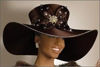 Lovely Fall Wide Brim Hat with Rhinestones $356.00