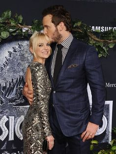 Chris Pratt and Anna Faris - Jurassic World premiere - June 9th 2015