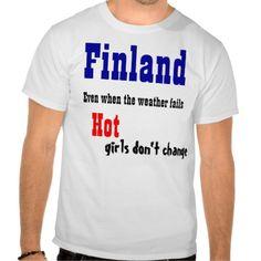 Finland hot girls t-shirts