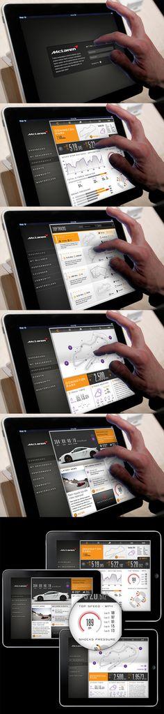 McLaren Automotive 'Connected Car' by Thomas Moeller, via Behance