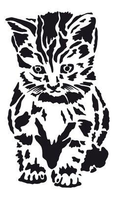 Gatito para stencil