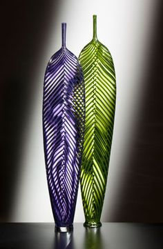 purple and Green Leaves, Dante Marioni