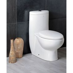 Update your bathroom with this dual-flush toilet featuring the powerful Out and Out flushing system and youll never have to flush twice. It features a nice soft-close seat that doesnt slam, so you dont have to worry about waking anyone up at night.
