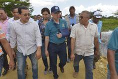 Ministro de Medio Ambiente supervisa trabajos de muro en Laguna Saladillo y recorre otras áreas protegidas