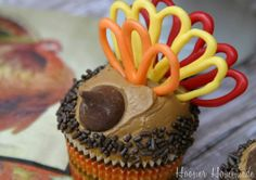 Turkey Cupcakes for Thanksgiving.