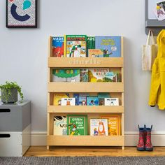 NEW: Natural Tidy Books Personalised Children's Bookcase with wooden letters