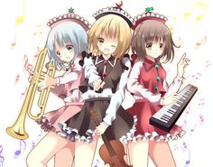 The Prismriver Sisters (Lyrica, Lunasa and Merlin) (Touhou)