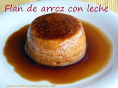 Flan de arroz con leche para #Mycook http://www.mycook.es/receta/flan-de-arroz-con-leche-3/