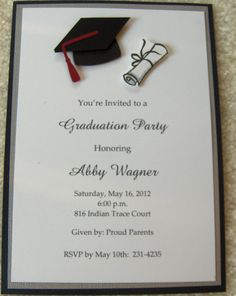 Collection of hundreds of Free Graduation Announcement Invitation from all the world.