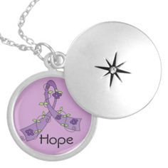 GIST Cancer Hope Flower Ribbon Pendants by cancerapparelgifts.com #GISTcancernecklace #GISTcancerawareness #GISTcancerribbon