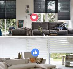 Welke kies jij? LOVE voor de donkere plissé shades en LIKE voor de lichte twist shades!