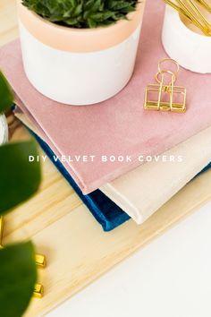 diy velvet book covers
