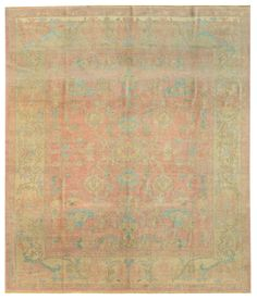 Oushak Rugs Gallery: Oushak Rug, Hand-knotted in Turkey; size: 8 feet 10 inch(es) x 10 feet 4 inch(es)