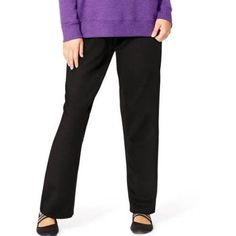 Just My Size Women's Plus-Size Fleece Petite Sweatpant, Black