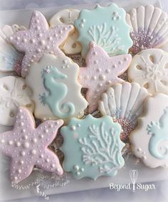 Mermaid birthday cookies!