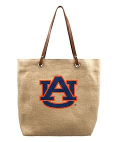 Loving this Auburn Tigers Burlap Market Tote on #zulily! #zulilyfinds