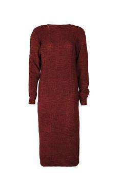 Vestido Tricot Vinho - Coleção Inverno 2016 - Carol Farina