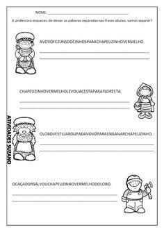Formando frases 1º/2º ano - Atividades Adriana