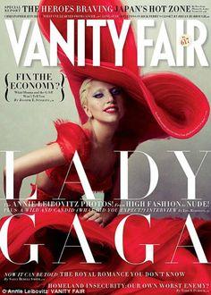 Lady Gaga in Alexander McQueen for Vanity Fair.