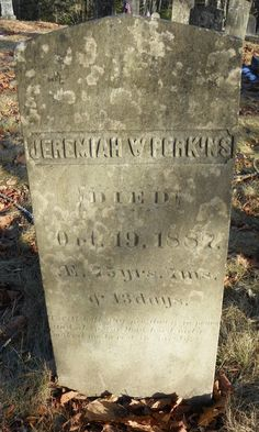 Jeremiah W Perkins My Great, Great, Great Grandfather