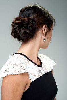 Wear this updo for Prom.  Simple and Elegant.  www.updosecret.com