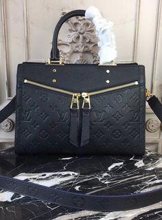 Louis Vuitton Monogram Empreinte Sully PM Noir M54196 S Signature, Sully, Everyday Items, Golden Color, Timeless Design, Louis Vuitton Monogram, At Least, Handbags, Purses