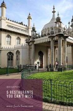 A short guide covering 5 restaurants you can't miss when in Brighton, UK. Brighton Uk, Casual Restaurants, Places To Eat, Taj Mahal, Europe, Canning, Mansions, House Styles, Building