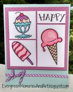 Evergreen Memories: Stamp of the Month Blog Hop: Ice Cream Dream