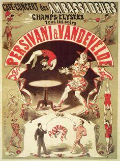 Persivani and Vandevelde - Acrobats, 1875, Jules Cheret