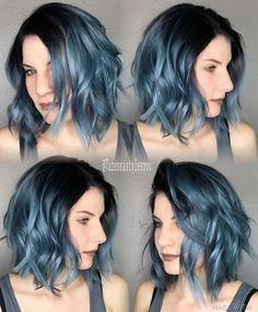 Blue ombré hair color                                                                                                                                                      More
