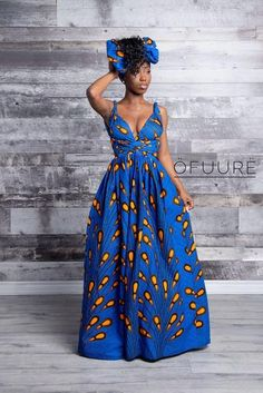 African print infinity dress Can be worn more than 10 different ways 2 side pockets Elastic Back cotton Made with high quality African print wax fabric Invisible zipper slit, Can be worn with or without the slit Skirt measures approximately 45 inches African Bridesmaid Dresses, African Maxi Dresses, Latest African Fashion Dresses, African Dresses For Women, African Print Fashion, African Attire, Ankara Fashion, African Dresses Online, Africa Fashion