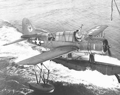 Kingfisher plane associated with Battleship Wisconsin BB-64.