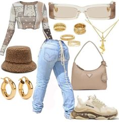 Boujee Outfits, Baddie Outfits Casual, Cute Swag Outfits, Dope Outfits, Polyvore Outfits, Fashion Outfits, Collage Outfits, Diva Fashion, Wattpad