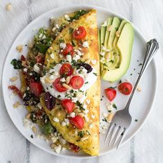 30 Minute Greek Quinoa Dinner Omelets with Feta and Tzatziki!