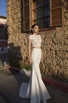 Riki Dalal Bridal Gowns 2015 :  Part two of the Lorraine collection includes luxurious lace fabrics, a number of totally wedding separates which are so in vogue at the moment,