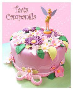 "Tarta fondant ""Campanilla""  tinkerbell"
