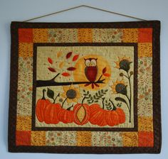 Owl Wall Hanging by TheQuiltersQuarters on Etsy