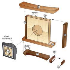 mantel wood clocks - Google Search