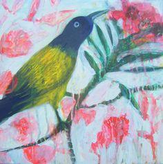 Enchantement -Enchantment - Original Painting Bird de la boutique ValerieBelmokhtarArt sur Etsy