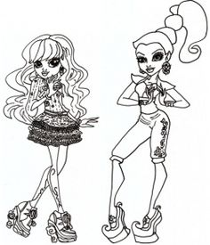 Have A Look Below And You Will See Here Almost Hundred Of Monster High Coloring Pages To Choose From Print These Sheets