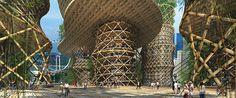 Torre de Bambú, un proyecto de ciudad sostenible|Espacios en madera