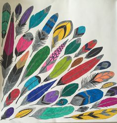 Mandala... So many different feathers, so many different colours... Millie Marotta
