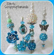 ELITE4U KAM Handmade Flower Hat Stick Pin Embellishments Premade Page Card Album