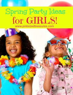 Spring party ideas for crafts, themes, games and more! Get ready to party --- girly style! www.pintsizedtreasures.com