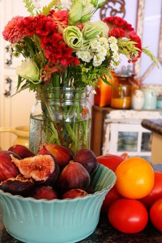 Figs Tomatoes & Flowers